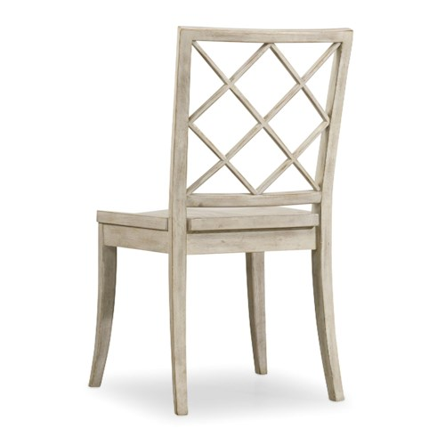 Hooker Furniture Sunset Point Casual Cottage Coastal X Back Side Chair