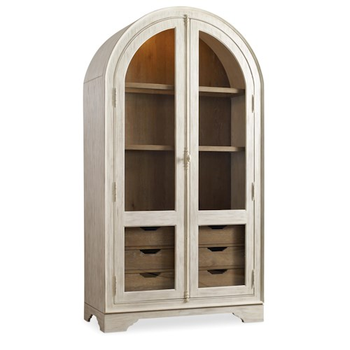 Hooker Furniture Sunset Point Casual Cottage Coastal Display Cabinet