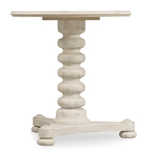 Hooker Furniture Sunset Point Casual Cottage Coastal Bedside Table with Spool Turned Pedestal