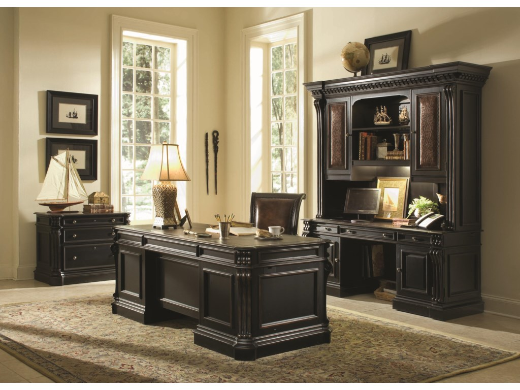 Shown with Credenza Hutch, Executive Desk, Tilt Swivel Chair and Lateral File