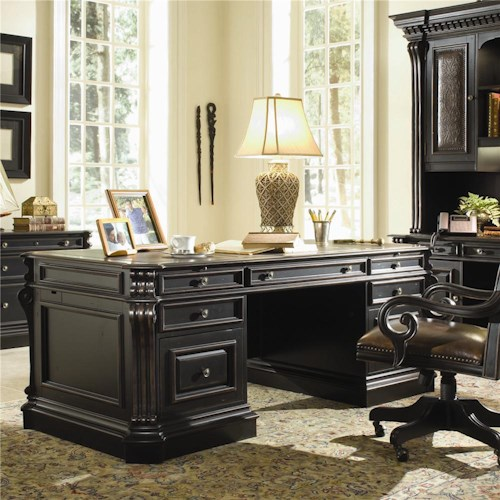 Hooker Furniture Telluride Executive Double Pedestal Desk