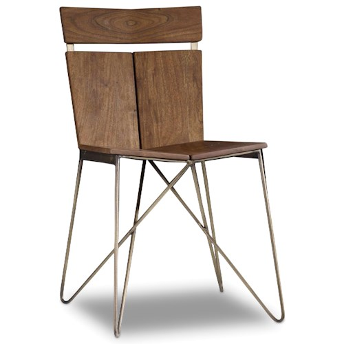 Hooker Furniture Transcend Modern Contemporary Chair with Metal Base