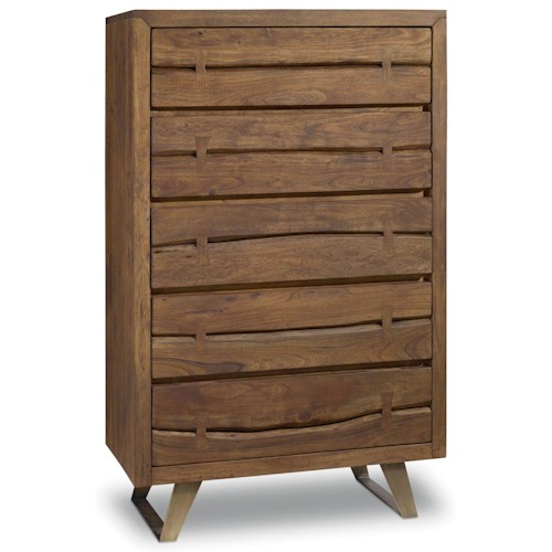 Hooker Furniture Transcend 5 Drawer Chest with Metal Base