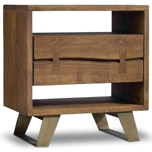 Hooker Furniture Transcend One Drawer Nightstand with Two Shelves