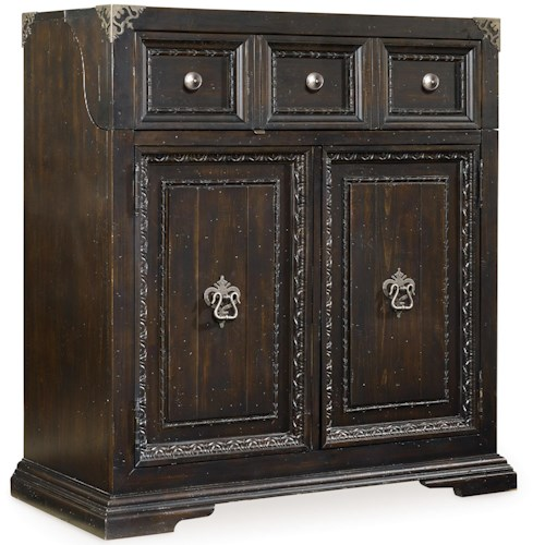Hooker Furniture Treviso Bar with Flip Top and Wine Shelves