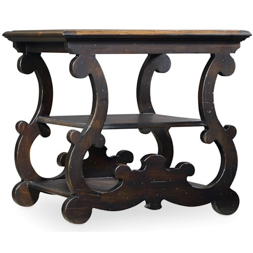 Hooker Furniture Treviso End Table with Shelf