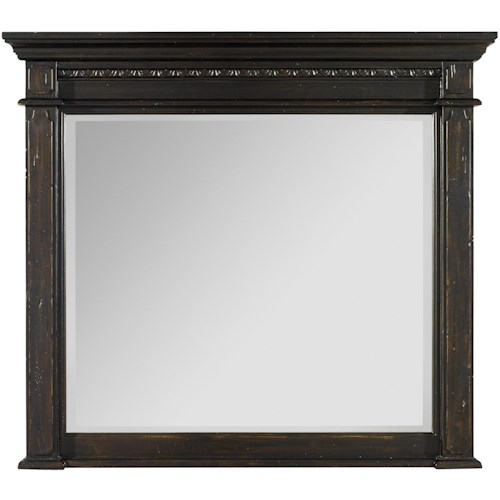 Hooker Furniture Treviso Mantle Landscape Mirror with Carvings