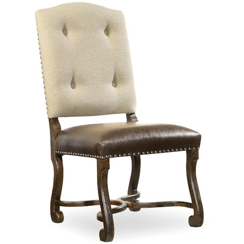 Hooker Furniture Treviso Camelback Side Chair with Tufted Back
