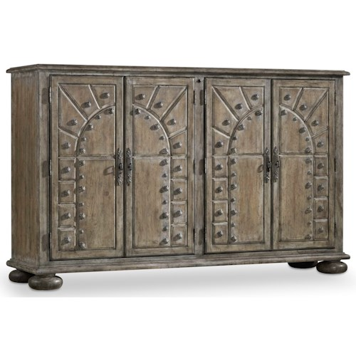 Hooker Furniture True Vintage Accent Console with Two Adjustable Shelves