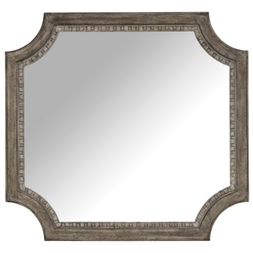 Hooker Furniture True Vintage Shaped Mirror with Wood Frame
