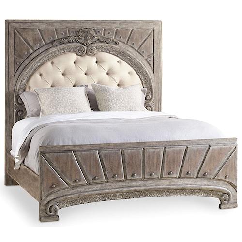 Hooker Furniture True Vintage California King Upholstered Panel Bed