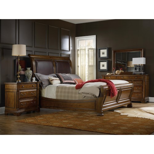 Hooker Furniture Tynecastle Traditional Queen Sleigh Bedroom Group