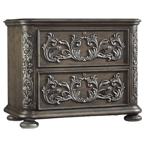 Hooker Furniture Vintage West Lateral File with Acanthus Carvings
