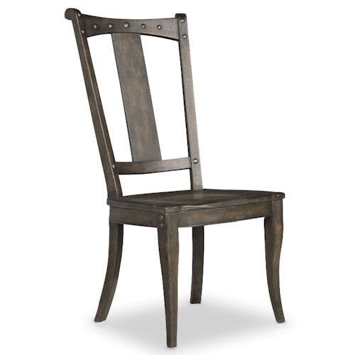 Hooker Furniture Vintage West Splatback Side Chair with Decorative Nailheads