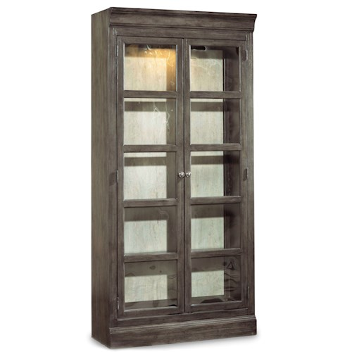 Hooker Furniture Vintage West Two Door Bunching Curio with Touch Light