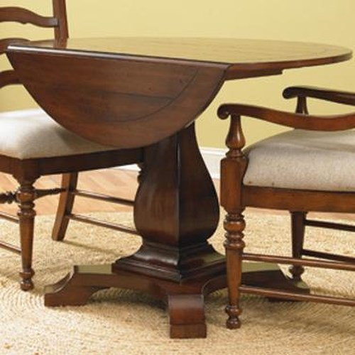Hooker Furniture Waverly Place Round Drop Leave Casual Dining Table