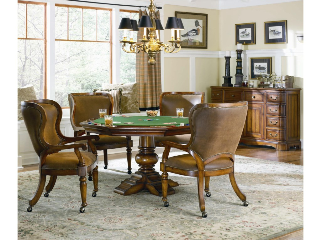 Shown with Tall Back Castered Fame Chairs and Shaped Front Credenza