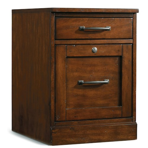 Hooker Furniture Wendover Mobile File with Utility Drawer and Locking File Drawer
