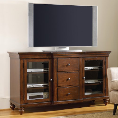 Hooker Furniture Wendover 64-Inch Entertainment Console with 2 Doors and 3 Drawers