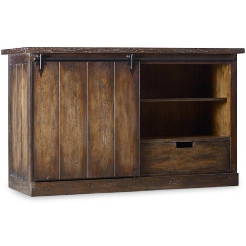 Hooker Furniture Willow Bend Dining Server with Sliding Door
