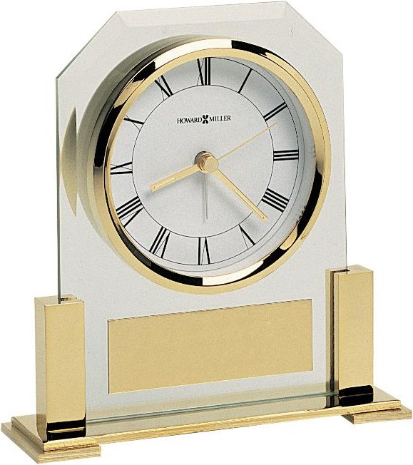 Alarm Clock with Brass Plate