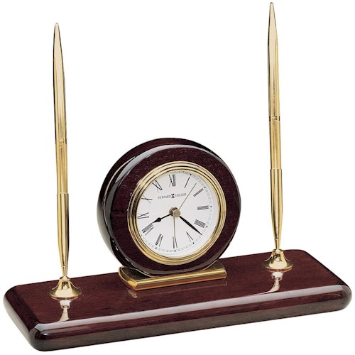 Howard Miller 613 Rosewood Desk Set Table Clock