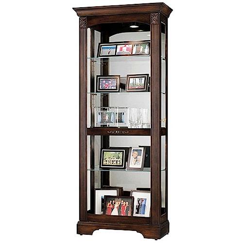 Howard Miller Ricardo Curio Cabinet With Sliding Front Door