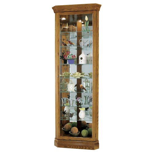 Morris Home Furnishings Corner Curios Corner Curio Cabinet