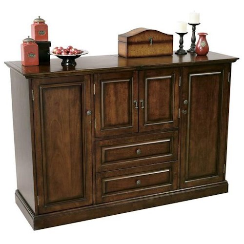Howard Miller Devino Home Wine and Bar Cabinet with Storage