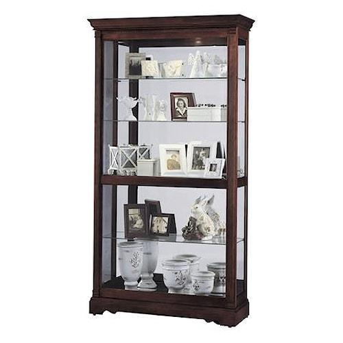 Morris Home Furnishings Harmony Large Sliding Door Curio Cabinet