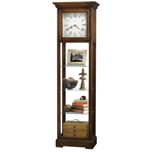 Howard Miller Clocks Le Rose Grandfather Clock with Flat Top Pediment