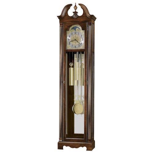 Howard Miller Clocks Warren Grandfather Clock with Polished Brass Dial