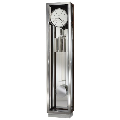 Howard Miller Clocks Modern Grandfather Clock with Chrome Finished Accents