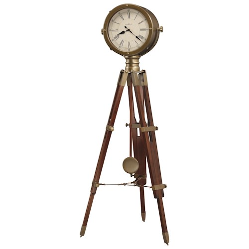 Howard Miller Clocks Time Surveyor Tripod Floor Clock