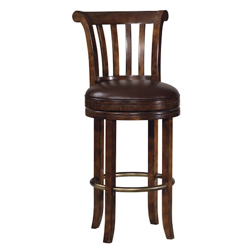 Howard Miller Ithaca Upholstered Swivel Bar Stool