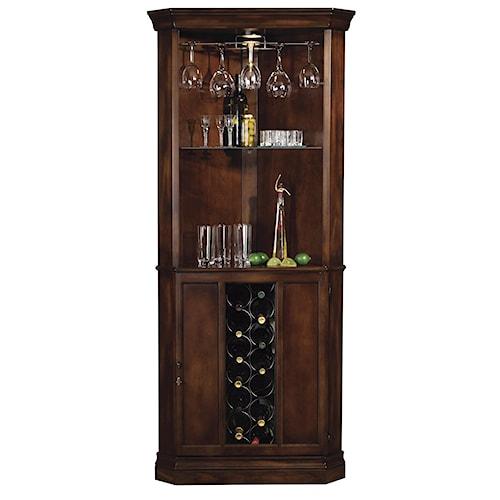 Howard Miller Wine & Bar Furnishings Piedmont Corner Wine & Bar Cabinet