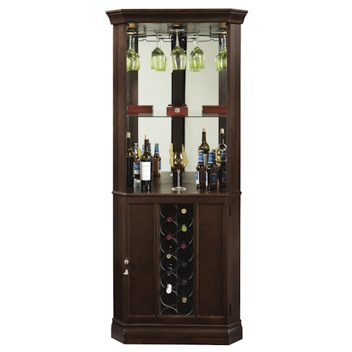 Howard Miller Wine & Bar Furnishings Piedmont Corner Wine & Bar Cabinet