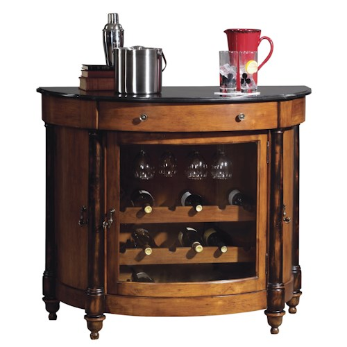 Howard Miller Wine & Bar Furnishings Merlot Valley Wine & Bar Cabinet