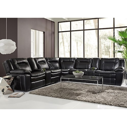 Warehouse M 10137 Contemporary Reclining Sectional