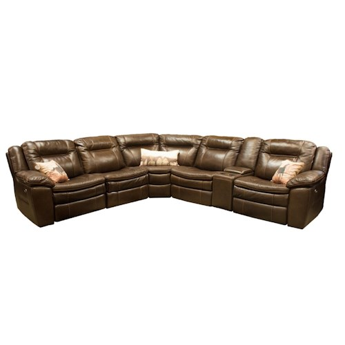 Htl 10137 Reclining Sectional Boulevard Home Furnishings Reclining Sectional Sofa