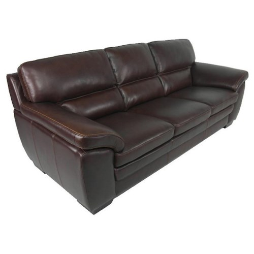 Warehouse M 10496 Contemporary Leather Match Sofa