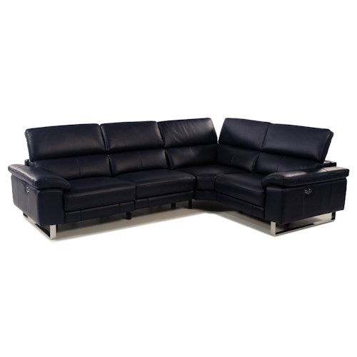 Giovani Horizons 2 Piece Power Reclining Leather Sectional