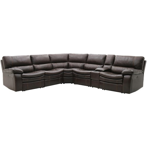 Warehouse M 10712 Power Reclining Sectional with Console