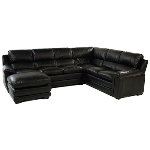 Giovani Artimus 1000-Y 3-Piece Leather Sectional