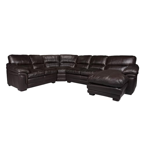 Morris Home Furnishings 2736 Comfortable Sectional Sofa with Right Side Chaise
