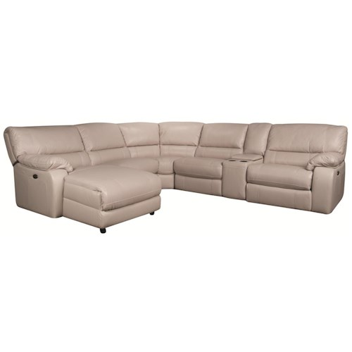Morris Home Furnishings Xavier 6-Piece Power Leather-Match* Reclining Sofa