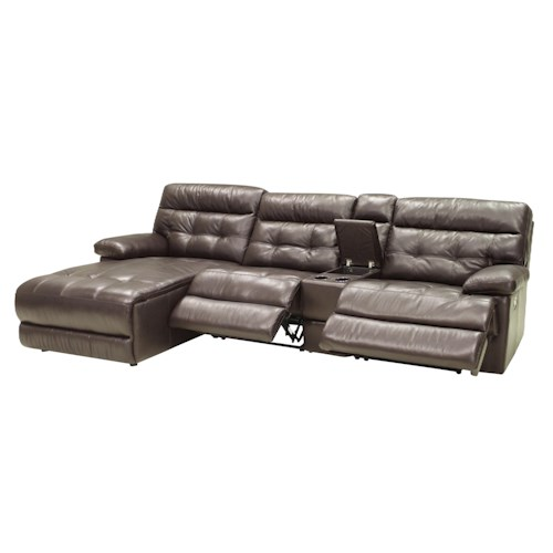 Htl 2775 four piece power reclining sectional with laf for 5 piece sectional sofa with chaise