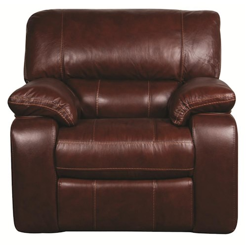 Morris Home Furnishings Xavier Power Leather-Match* Wall Recliner
