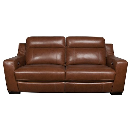 Morris Home Furnishings Andy Leather-Match* Power Reclining Sofa