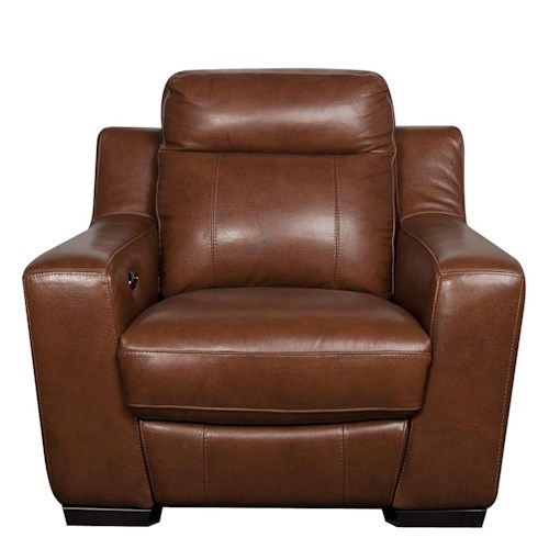 Morris Home Furnishings Andy Leather-Match* Power Recliner